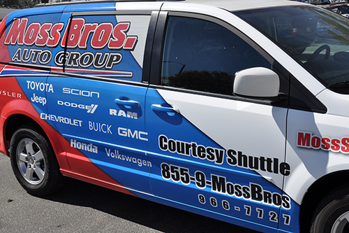 DODGE MINI VAN VEHICLE WRAP WITH CUSTOM DESIGN