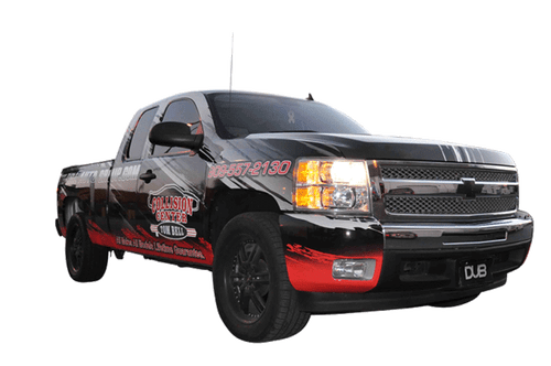 Chevy Truck Wrap using 3M for Tom Bell Collision Center