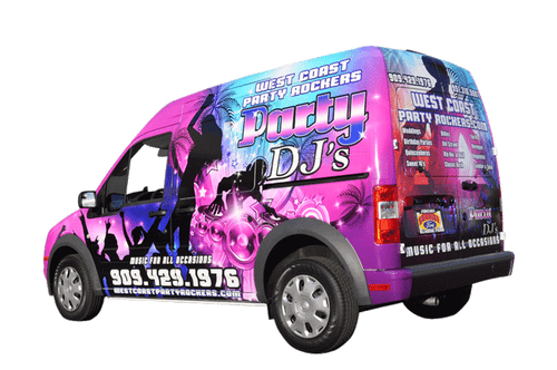 2013 Ford Transit GF gloss wrap for West Coast Party Rockers Dj's