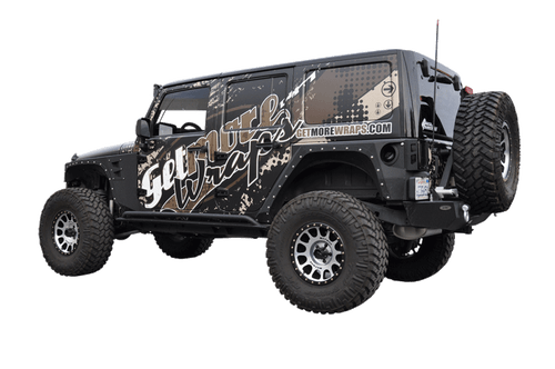 JEEP RUBICON MATT 3M VEHICLE WRAPS WITH CUSTOM DESIGN