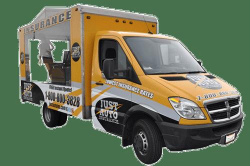 Dodge Sprinter Van Wrap using GF for Just Auto Insurance
