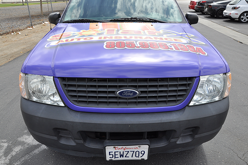 FORD EXPLORER SPORT GLOSS VEHICLE WRAPS WITH CUSTOM DESIGN