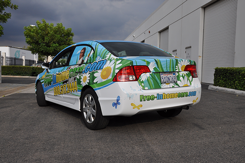HONDA CIVIC GLOSS VEHICLE WRAPS WITH CUSTOM DESIGN