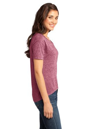 District® - Juniors Microburn™ Wide Neck Hi/Lo Tee.