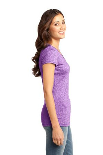District® - Juniors Microburn™ V-Neck Cap Sleeve Tee..