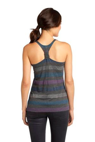 District® - Juniors Reverse Striped Scrunched Back Tank.