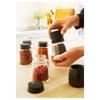 IKEA 365+ IHÄRDIG Spice jar, glass, black, 15 cl