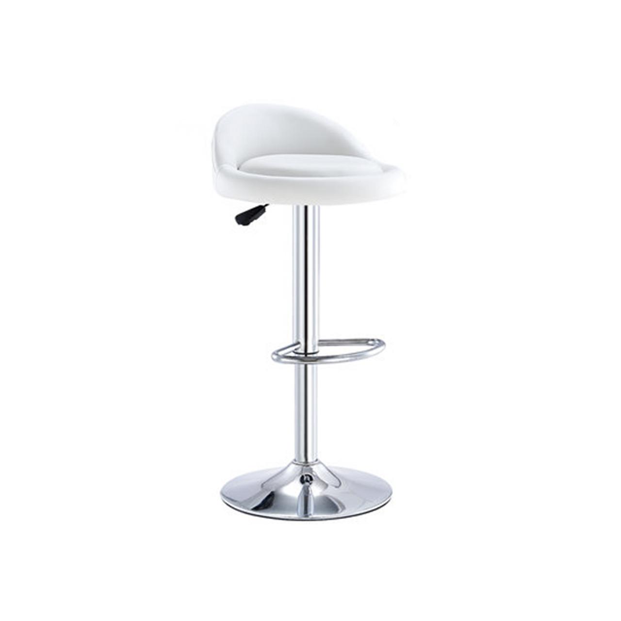 Marvelous Leather Hydraulic Lift Bar Chair White Machost Co Dining Chair Design Ideas Machostcouk