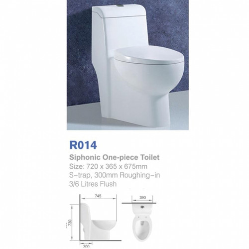 Richford Toilet Set S-Trap R014 (TA00001-00017)