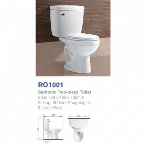 Richford Toilet Set S-Trap RO1001 (TA00001-00010)
