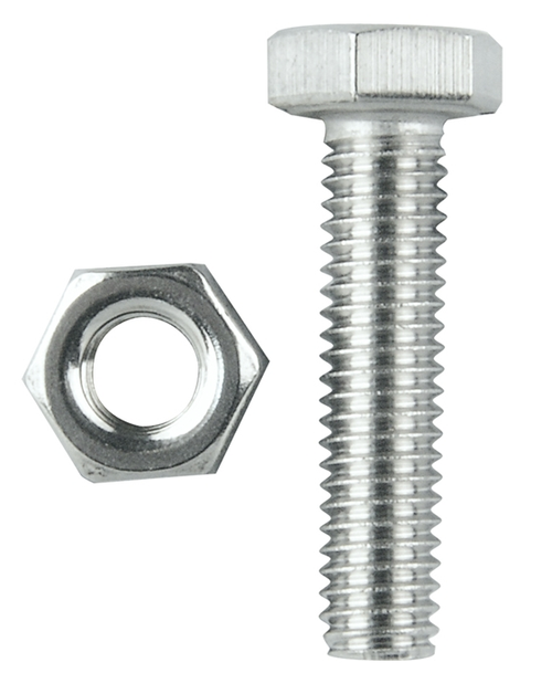 "STAINLESS STEEL BOLT & NUT FOR SINK WASTE 1/4"" X 25MM"