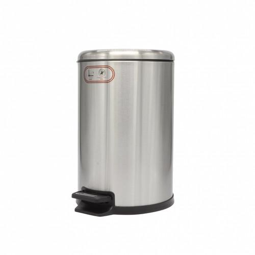 JF Hand Free Stainless Steel Trash Bin 12L JF-SK-12L ( BDM14-05)