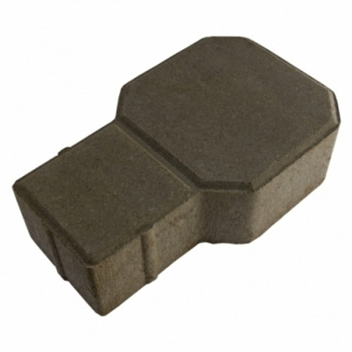 "MGM 2 Layers ""D"" Type Interlocking Paver Block D2BK - Black (PV00006-00001)"