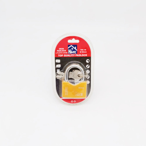 Good Home Iron Padlock with Plastic Cover 50mm #TRC50