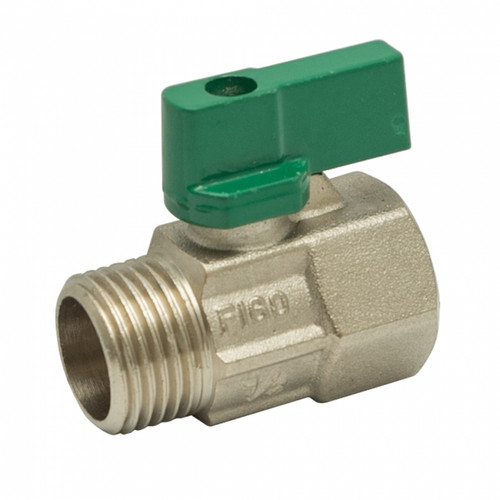 "Figo Brass Mini Ball Valve 1/2"" M/F (HW00075-00033)"