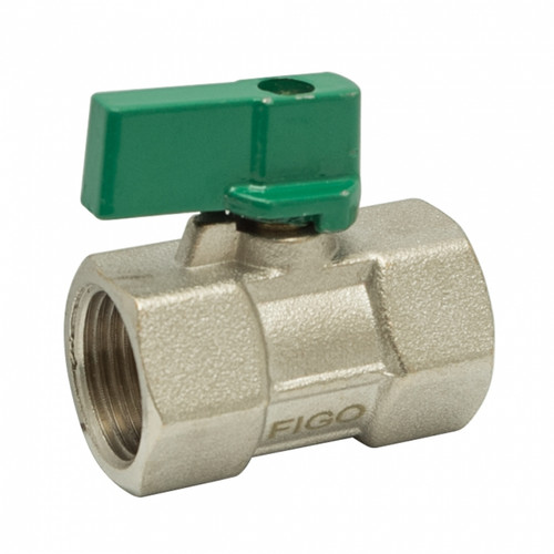 "Figo Brass Mini Ball Valve 1/2"" F/F (HW00211-00005)"