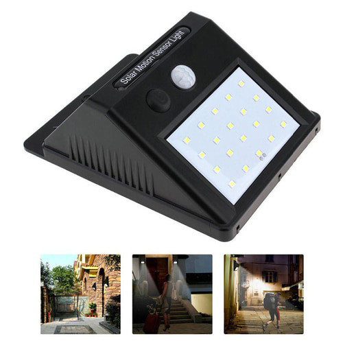 Dawson 20 LED Solar Powered Motion Sensor Wall Light 4W