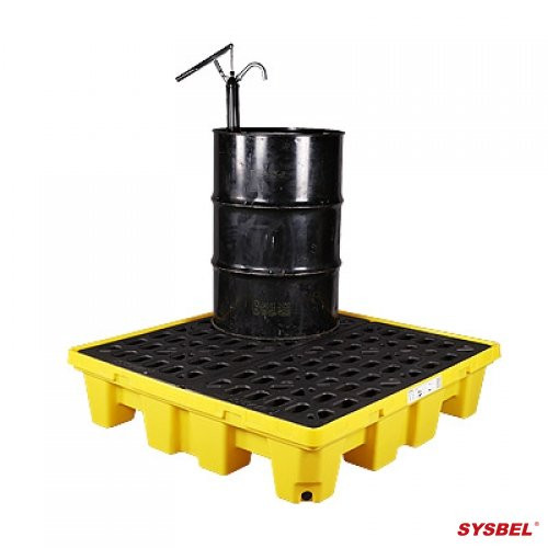 Sysbel Spill Pallet | Poly Spill Pallet (4 Drum)