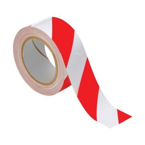 """Warning Tape 2"""" x 80 Yards (Red/White)"""