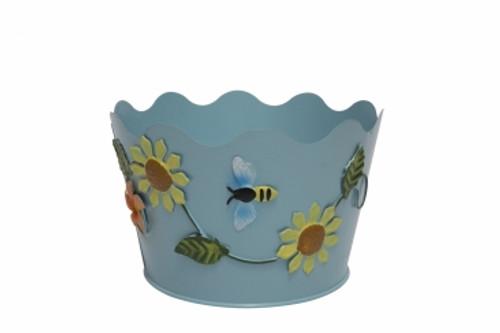 Good Home Flower Pattern Pot Metal GD-M75003