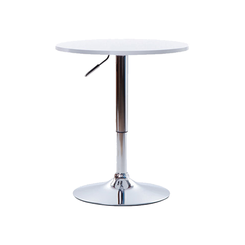 Round Hydraulic Lift Table (White)
