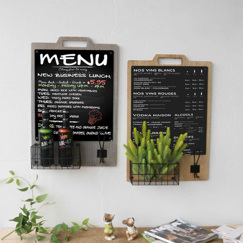 Wall-Mounted Chalkboard W Basket