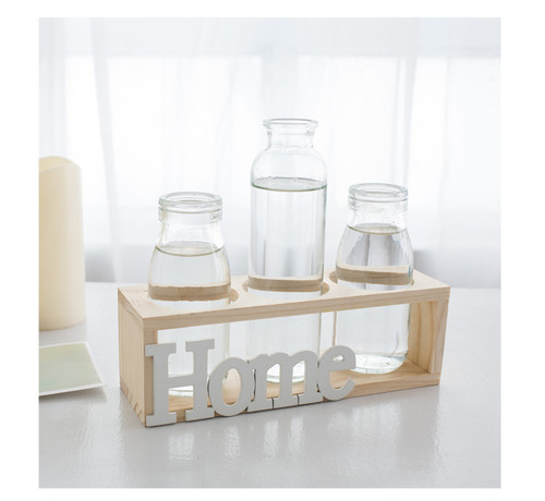 Glass Bottle Shelf With LED