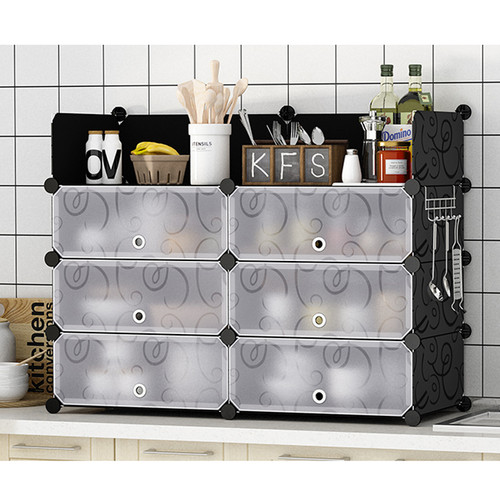 Resin Sheet Kitchen Organizer 95 x 37 x 75cm