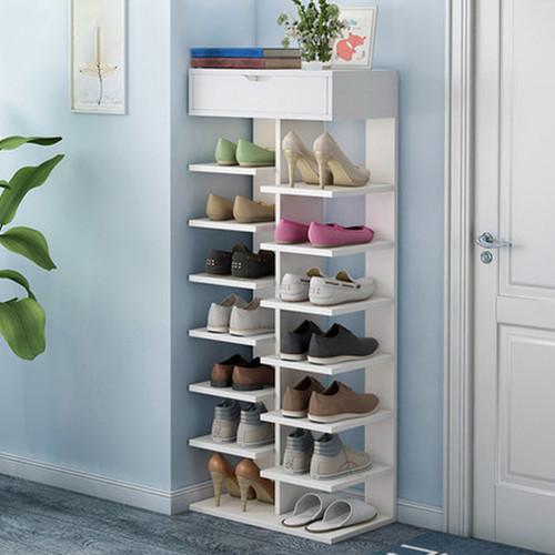 Multi-LVL Shoes Rack White 40 x 25 x 128.5cm
