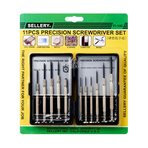 Sellery 11-146 11pc Precision Screwdriver Set