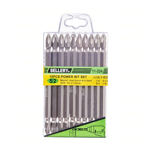 Sellery 11-224 10 pcs power bit #2 x 110mm