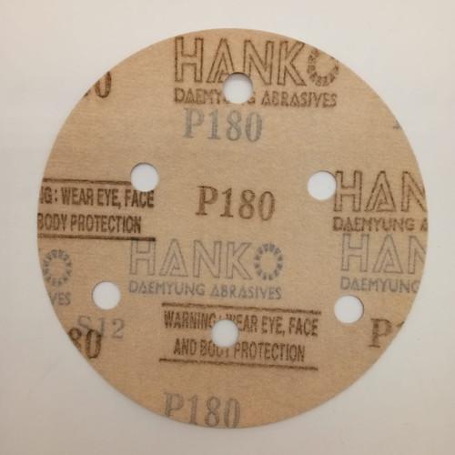 """Hanko velcro disc 5"""" #180 (6 holes)"""