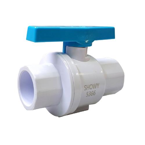 "Showy UPVC ball valve 3/4"" (20mm) SS141 #5366"