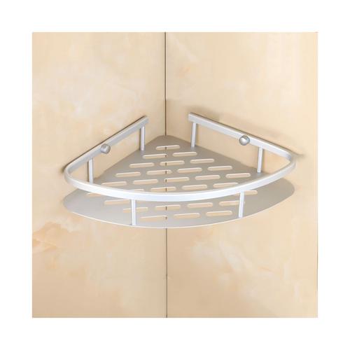 Aluminium corner shelf 22cm x 22cm x5cm