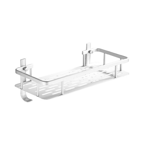 Aluminium rectangle shelf with hook 31.5cm x 14cm x 5cm