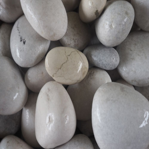 Pebble Stone White Round 30-50mm
