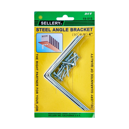 "Sellery 19-515 angle bracket 4"" W/ Screw (4pcs/set)"