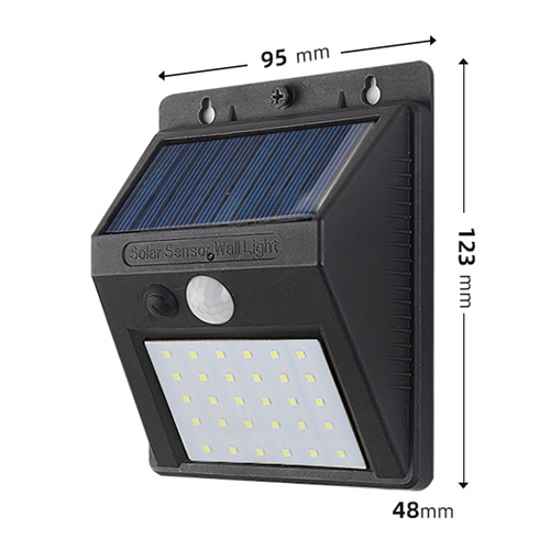 40w 30 LED solar wall light