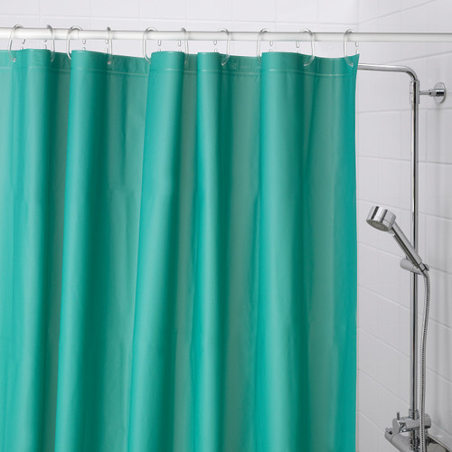 IKEA OLEBY shower curtain - turquoise