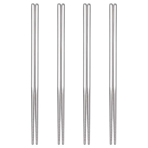 IKEA SNABBLAGAT Chopsticks 4 pairs, stainless steel