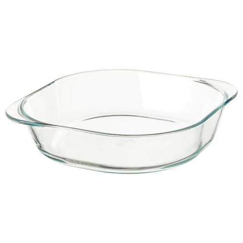 IKEA FÖLJSAM Oven dish, clear glass, 24.5x24.5 cm