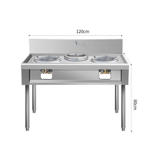 S/S two burner gas stove L120*W65*H80cm