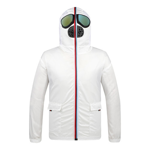 Face Protective Suit White Sz:L