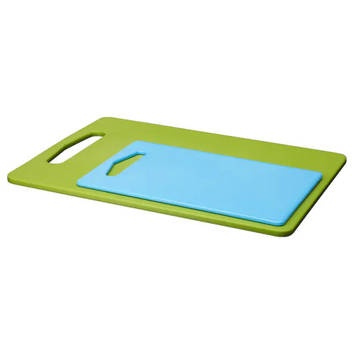 IKEA BERGTUNGA Chopping board, set of 2, green, blue