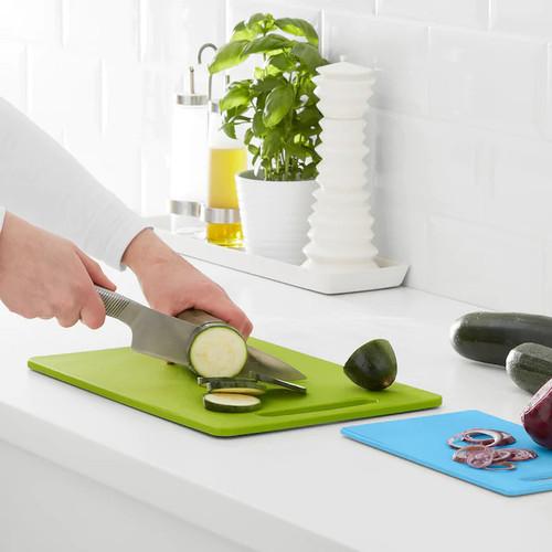 IKEA BERGTUNGA Chopping board, set of 2, green, blue