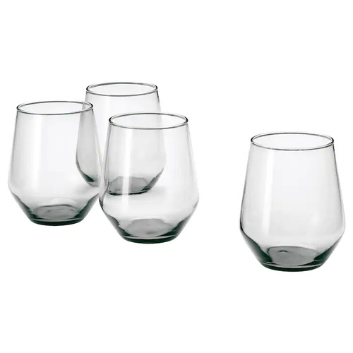IKEA IVRIG Glass, grey, 45 cl