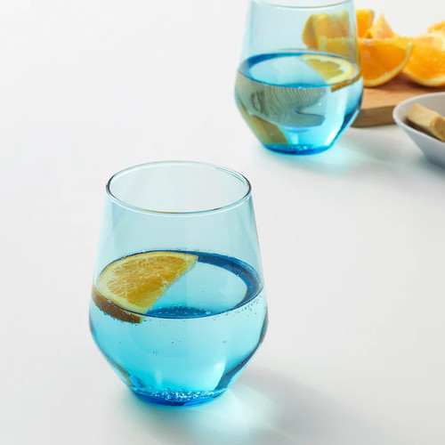 IKEA IVRIG Glass, turquoise, 45 cl