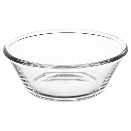 IKEA VARDAGEN Serving bowl, clear glass, 20 cm