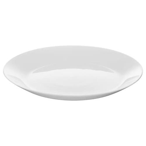 IKEA OFTAST Side plate, white, 19 cm