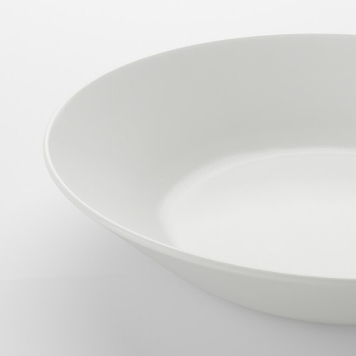 IKEA OFTAST Deep plate, white, 20 cm